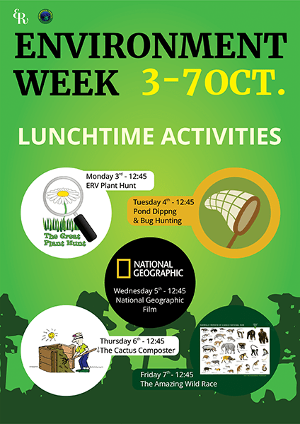 Environment Week 2016 – Monday 3rd October to Friday 7th October