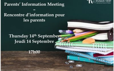 Parent's Evening – 14th September 2017