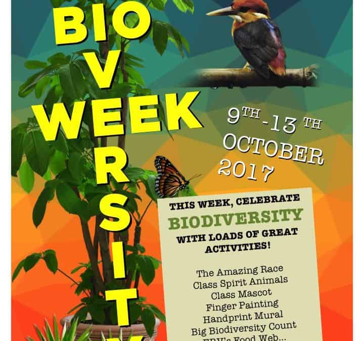 Biodiversity Week – Monday 6th October to Friday 13th October