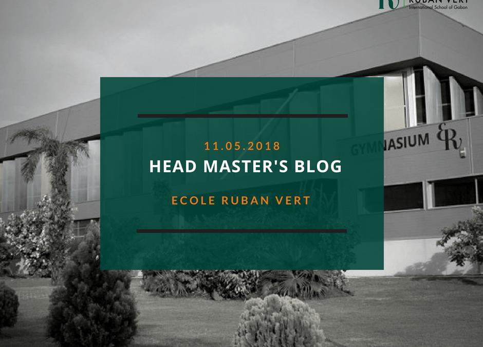 Headmaster's Blog – 11th May 2018